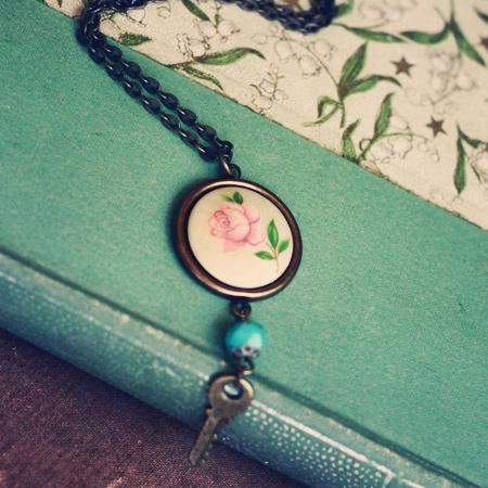 Secret Garden Key Indie Necklace by Violet Bella