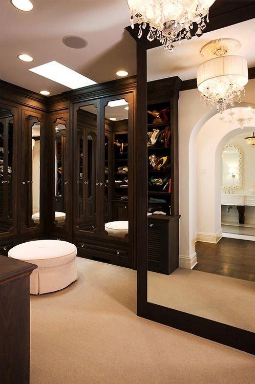 Dark Chocolate Walk-in Closet