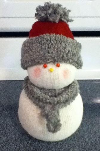 DIY Sock Snow People