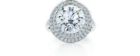 Tiffany Double Border Diamond Ring
