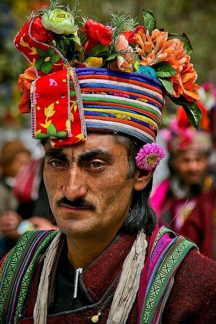 Man Attending the Festivities at Ladakh