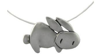 Mark Poulin Bunny Necklace