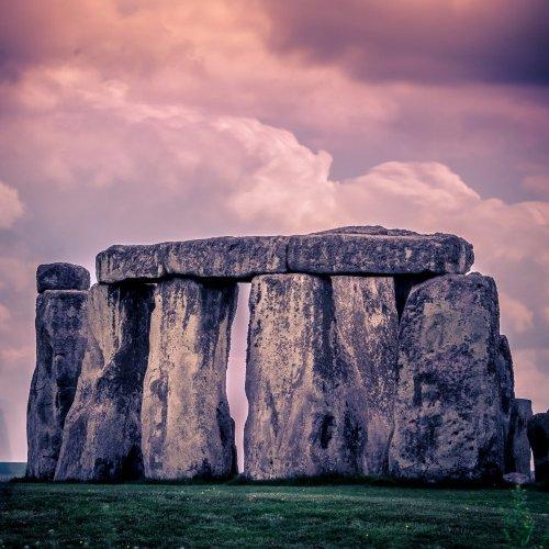 Stonehenge, sky, rock, cloud, horizon,