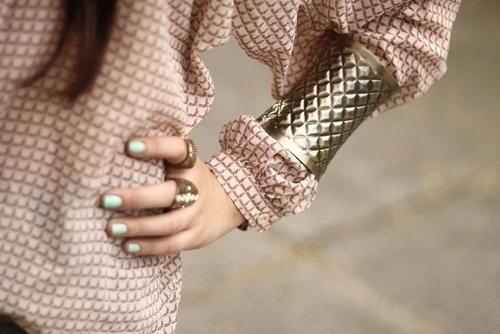 Long Sleeves + Metallic Cuffs