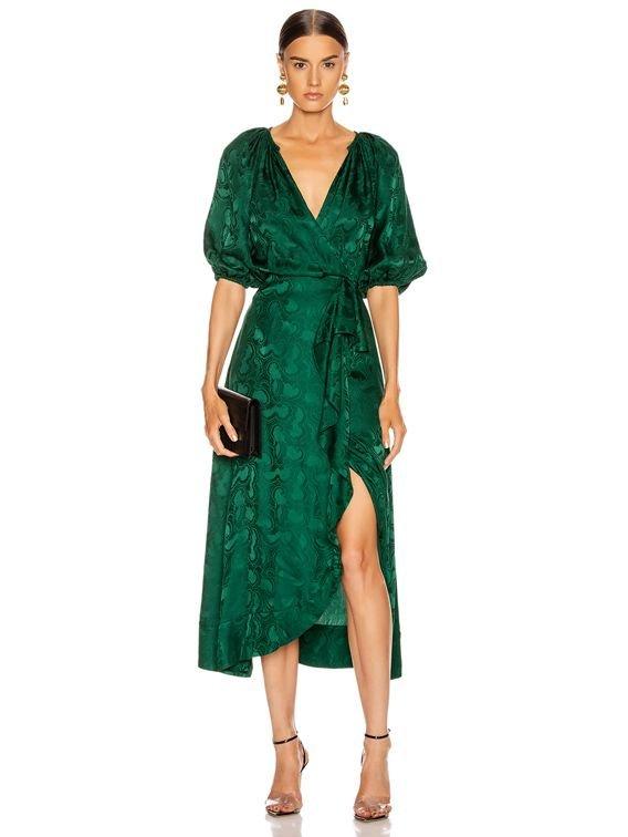 Clothing, Dress, Green, Day dress, Sleeve,