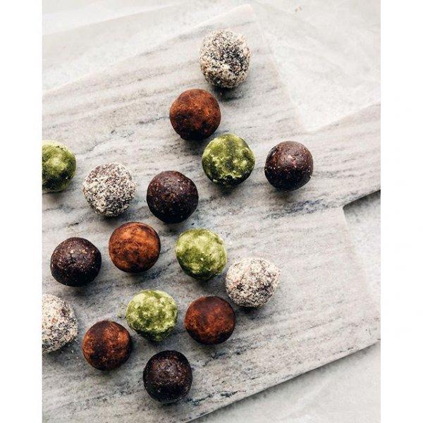 food, produce, nuts & seeds, chocolate truffle, coconut,