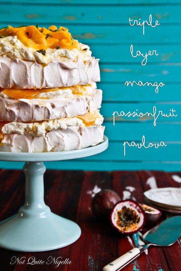 Triple Layer Mango & Passion Fruit Pavlova