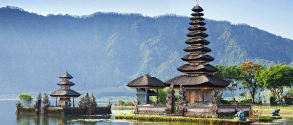 Pura Ulun Danu Bratan, chinese architecture, pagoda, historic site, temple,