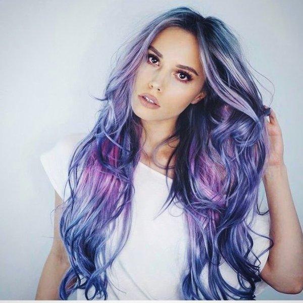 hair, human hair color, purple, beauty, long hair,