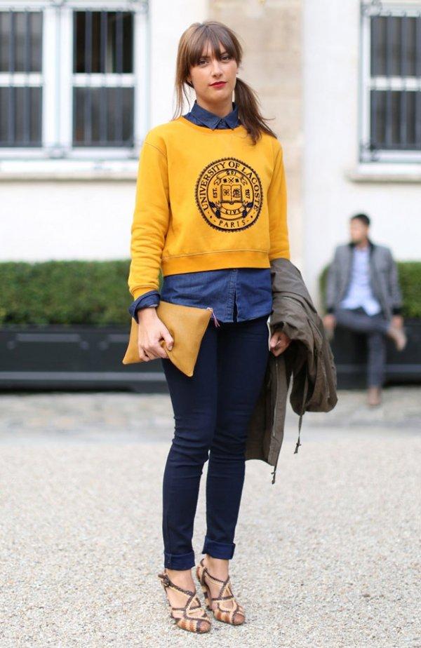 Shirt under Sweater