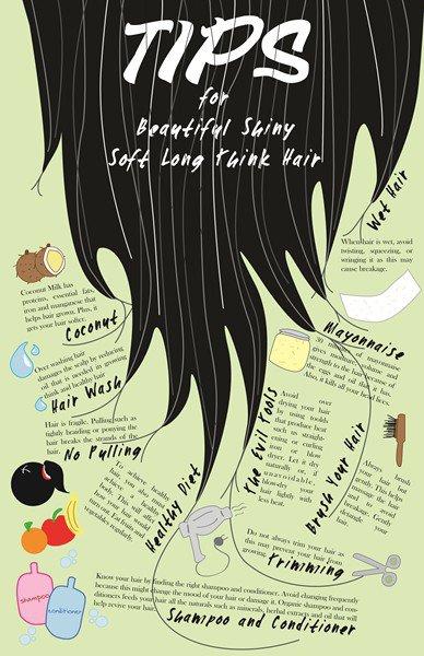 Thick, Shiny Hair Tips!