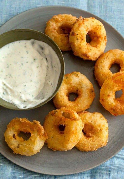 food, dish, fried food, onion ring, produce,