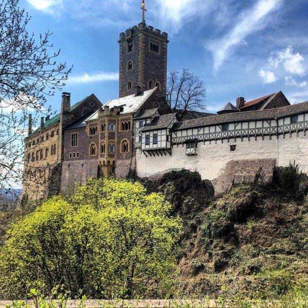 castle, building, medieval architecture, sky, château,