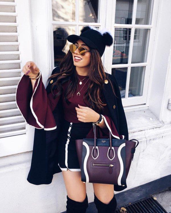 clothing, black, fashion, outerwear, handbag,