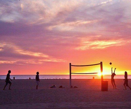 sky,beach,afterglow,horizon,sunset,