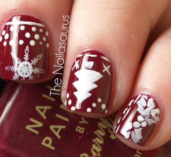 nail, finger, pink, red, nail care,