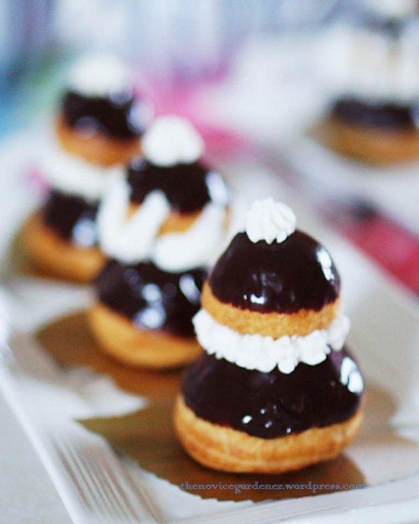 dessert, whipped cream, food, profiterole, cream,