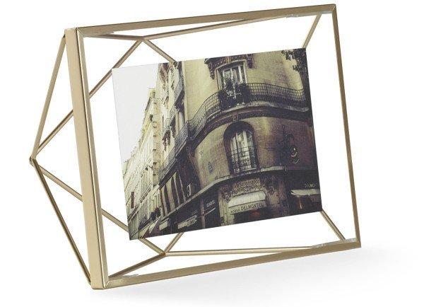 Prisma 4-Inch by 6-Inch Brass Wire Desktop Frame, Brass