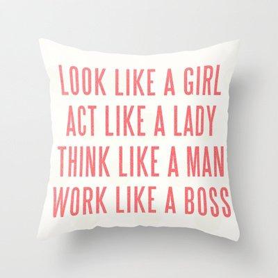 Boss Throw Pillow by Wesley Bird