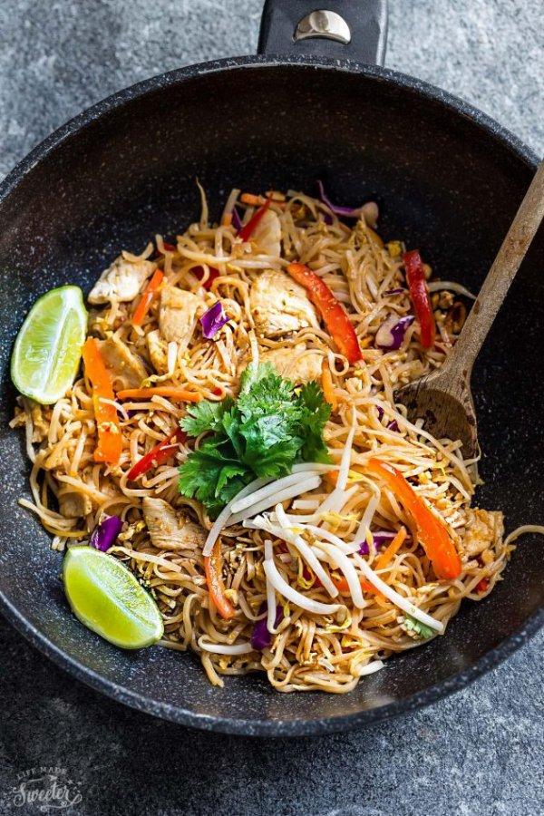 food, dish, spaghetti, cuisine, chow mein,
