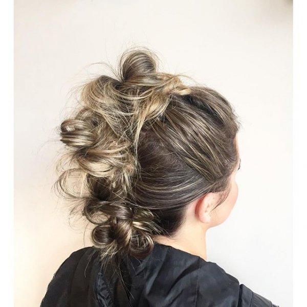 hair, hairstyle, long hair, head, chignon,
