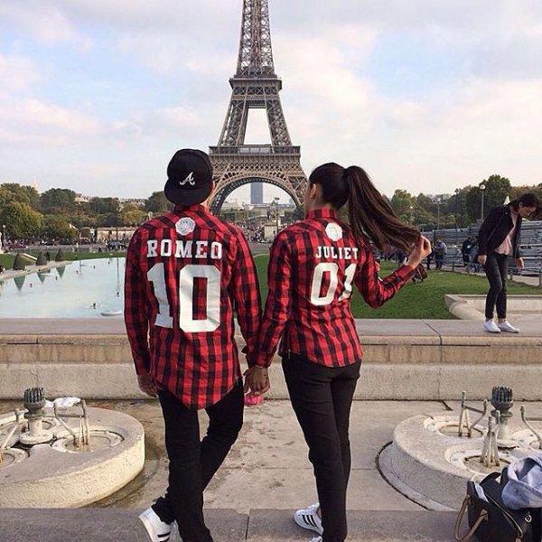 Eiffel Tower, people, spring, ROMEO, JULIET,