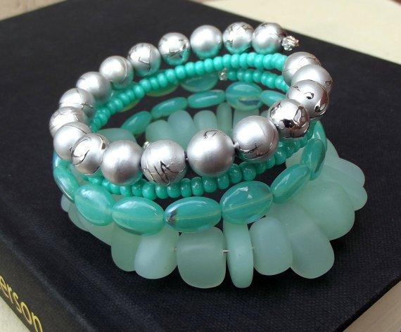 Sea Foam Green Wrap Bracelet