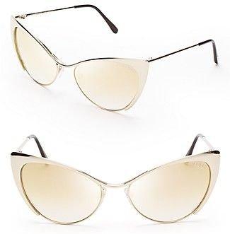 Nastasya Metal Cat's-eye Sunglasses