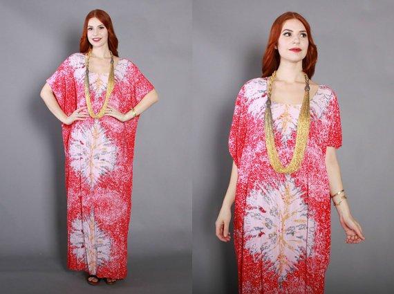 70s Ethnic CAFTAN DRESS