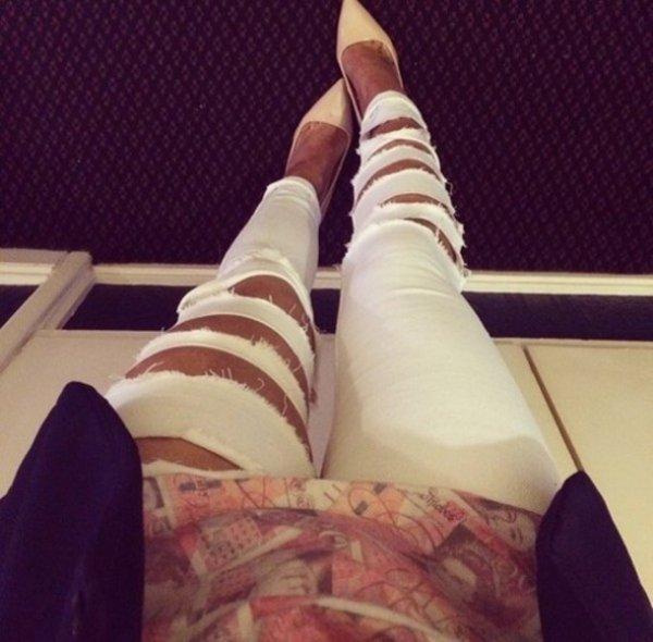 Bleaching White Jeans