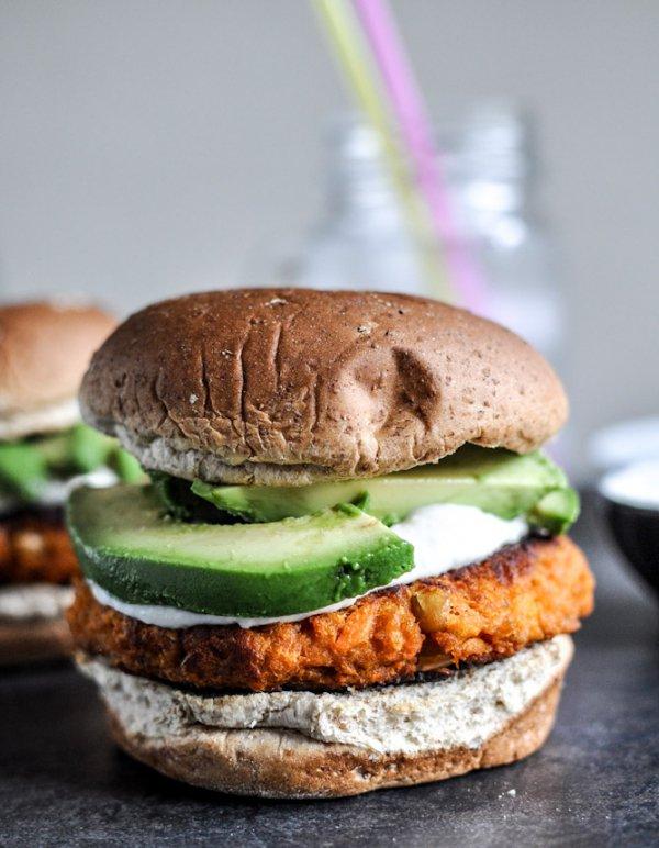 food, dish, produce, veggie burger, hamburger,