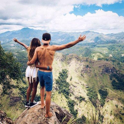 mountain, cliff, adventure, sea, jumping,