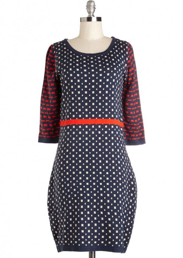 ModCloth Mid-length 3 Sweater Dress Pave the Sashay Dress