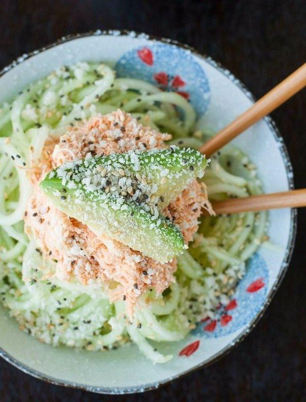 Japanese-inspired Spicy Sriracha Crab & Cucumber Salad