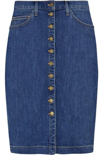 Current/Elliot the Dorothy Stretch-Denim Pencil Skirt