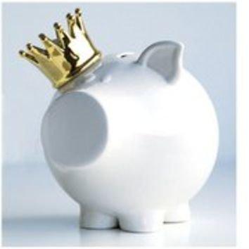 Oink Gold Crown Money Box