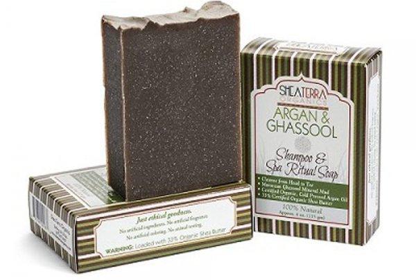 Shea Terra Organics Argan and Ghassool Shampoo Bar