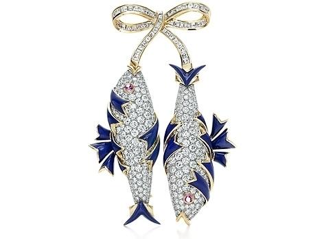Jean Schlumberger Diamond Two-Fish Brooch