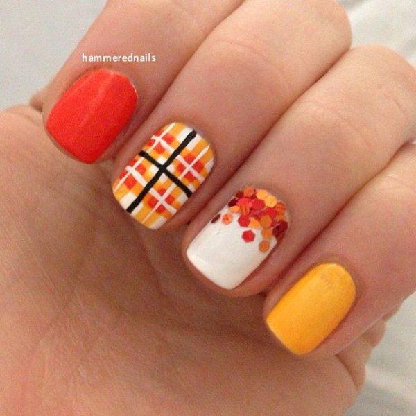 nail,finger,nail care,orange,yellow,