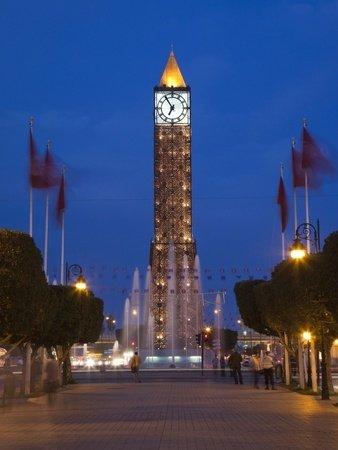Place Du 7 Novembre 1987 Clocktower, Tunis, Tunisia