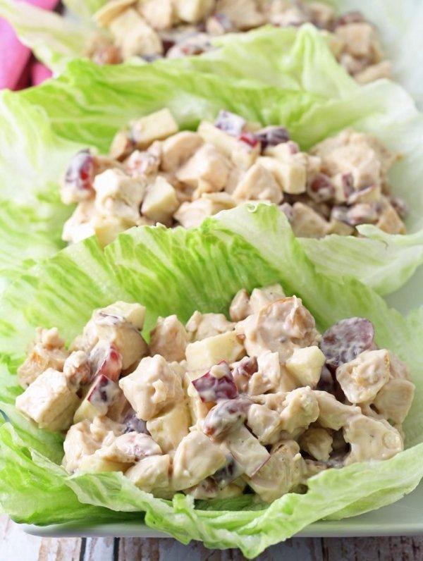 Grilled Chicken Salad Lettuce Wraps