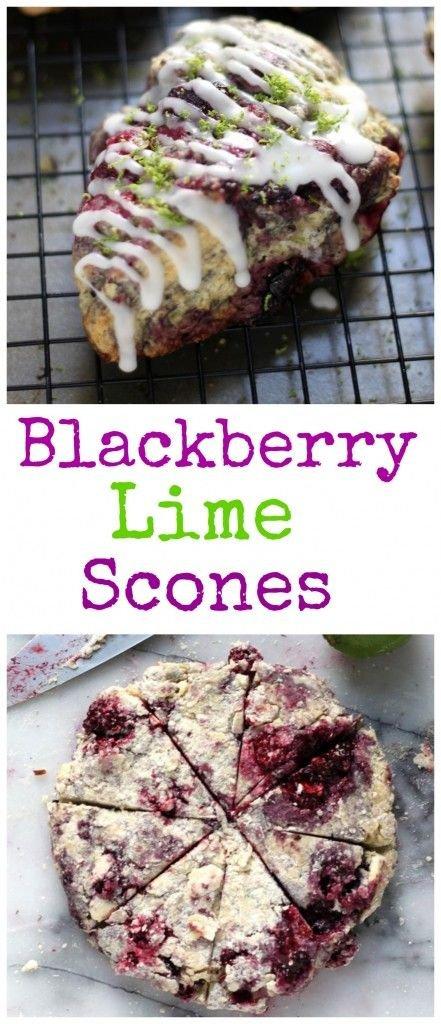Blackberry Lime Scones
