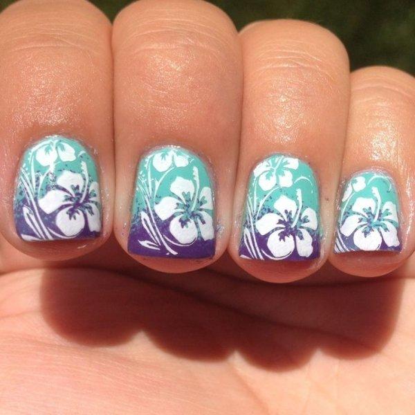 Hibiscus Nail Art - 28 Super Cute Ideas for Summer Nail Art ... …