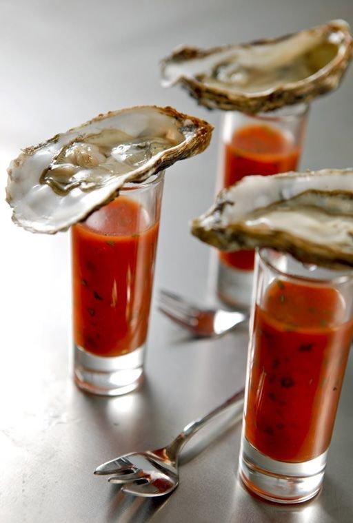 Vodka Oyster Shots