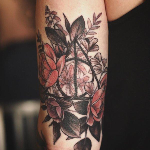 tattoo, flower, shoulder, joint, arm,