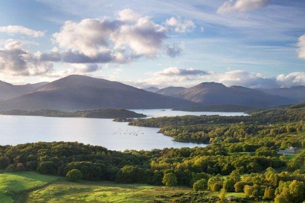 highland, loch, sky, lake, lake district,
