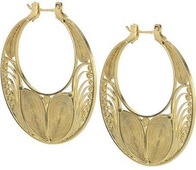 Mallarino Safiva 24-Karat Gold-Vermeil Hoop Earrings