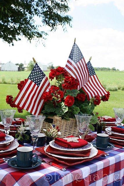 Memorial Day Picnic Table