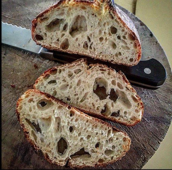 bread, sourdough, baked goods, rye bread, loaf,