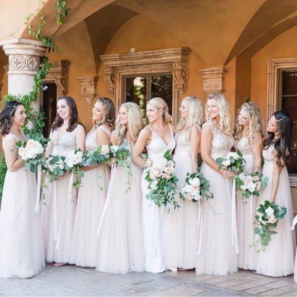 flower, bridesmaid, woman, bride, gown,